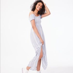 Aeropostale Smocked Maxi Dress